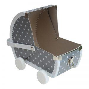 Speelkoffertje ''Poppenwagen''