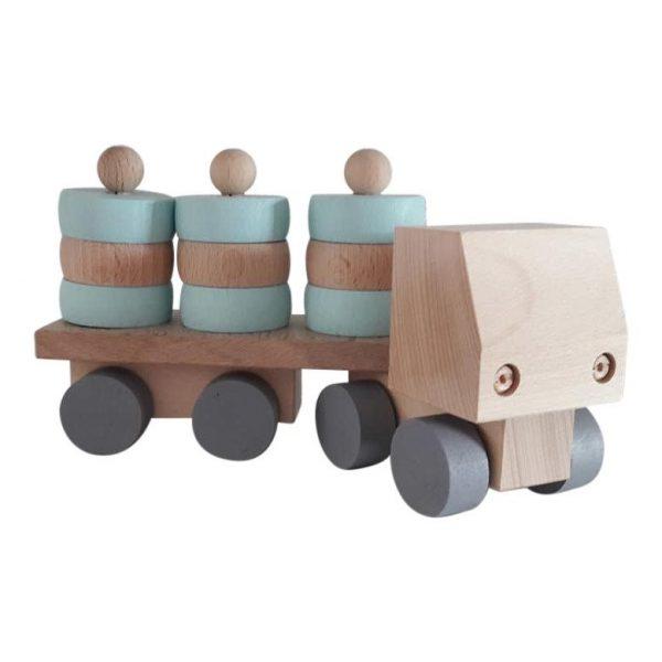 Vrachtwagen met ronde blokjes